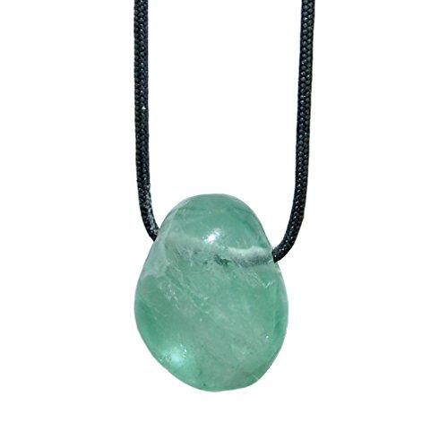 Fluorit grün und viele andere Steinsorten flache Edelsteine/Trommelsteine Anhänger gebohrt