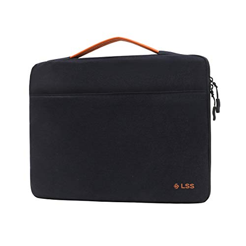 LSS Protective Laptop Sleeve Case with PU Leather Handle for Men/Women - Stylish & Durable Sleeve for 12'-12.9' Laptops, Cool Laptop Sleeve, Compatible with MacBook Air, Pro, Microsoft Surface & More