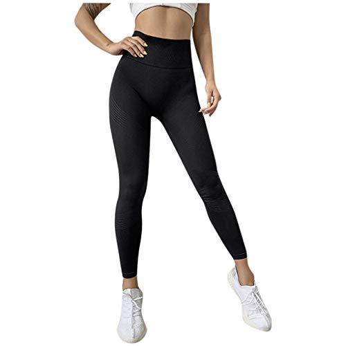 iHENGH Leggings Sport Tight Pants Yoga Mode Féminine élastique à Rayures Taille Haute Casual