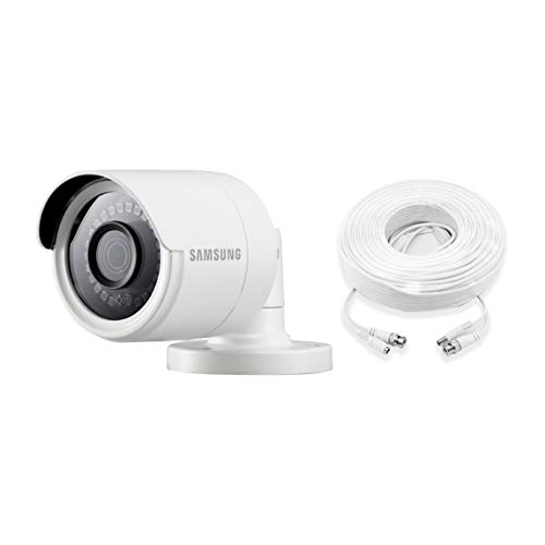 Samsung Wisenet SDC-89440BF 4MP CCTV Surveillance Weatherproof Bullet Security Camera 82ft IR Distance Metal Housing 3.6mm Lens 105° Wide Angle (Additional Camera)