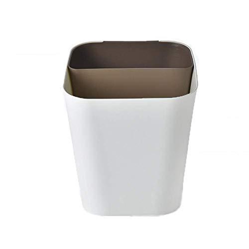 Trennung Lagerung Nass- und Trocken 2 In 1 Müll Klassifizierung Wohnzimmer Abfalleimer Küche Haushalt Müll Shaping Büro Müll Can Bento Lunch Box for Kinder (Farbe: braun) 1yess (Color : Brown)