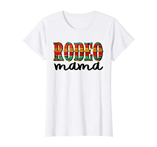 Womens Rodeo Mama T Shirt Horse Lover Racing Mother's Day Gift