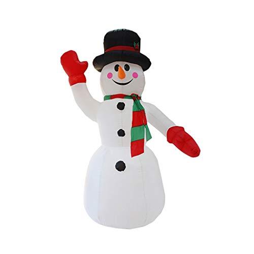 ZCX Inflable Decoración del muñeco de Nieve con luz LED for Yard Lawn Party 2.4M Interior al Aire Libre Luces de Navidad