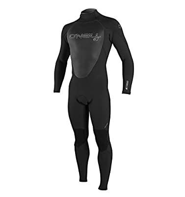 O'Neill Men's Epic 3/2mm Back Zip Full Wetsuit, Black/Black/Black, M