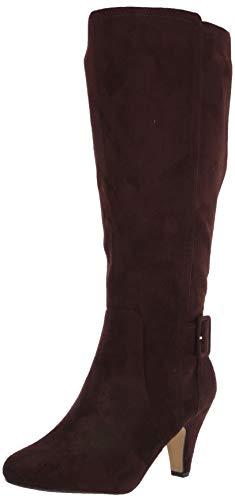 Bella Vita Women's Troy II Plus Dress Wide Calf Boot Knee High, Brown Super Suede, 9 2W US