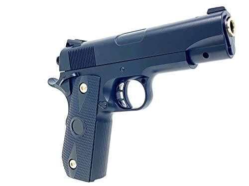 Softair Pistole Airsoft Gun Black-Silver 22cm Spielzeug Waffe Federdruck 0,5J