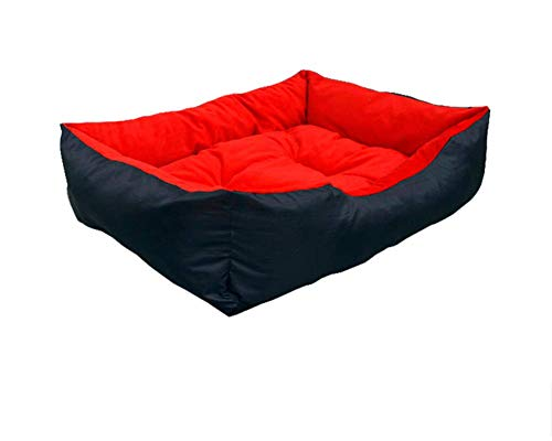 unknow Cozy Dog Bed Stylish Modern Comfortable Soft Dog Cage or Crate Durable Dog Sleeping Bed Warm Kennel Pads for Cats and Small Medium Dogs,Red,S