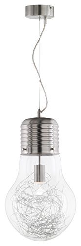 Wofi Futura - Lámpara de techo, color níquel