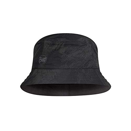 Buff Unisex Trek Bucket Hat Baskenmütze, schwarz, L/XL