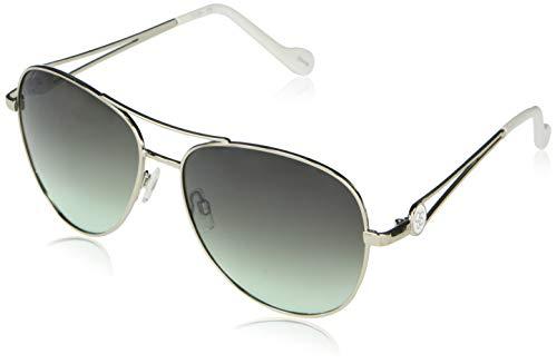 Jessica Simpson J5859 Open Temple - Gafas de sol de aviador de metal con protección UV 100%