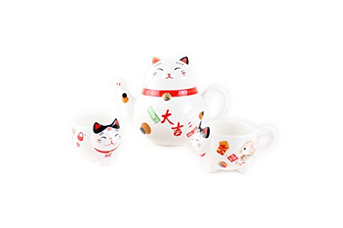 Fortune Cat Winkekatze Maneki Neko Tee-Set B
