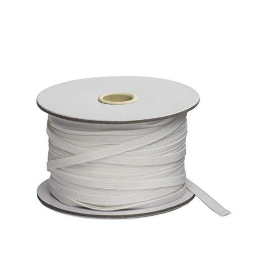 Elastic String for Masks - 100 Yards-Elastic Band for Sewing 1/4 Inch Elastic, Ear Loop Bands, Durable and Soft Knitted Elastic Cord - Latex Free White (Premium)