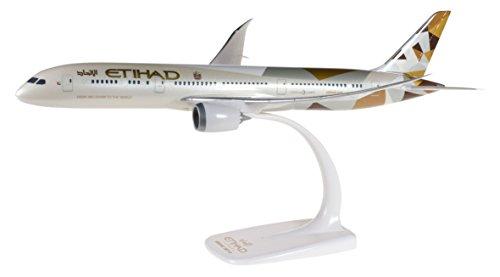 herpa 610636 Etihad 610636-Etihad Airways Boeing 787-9 Dreamliner in Miniatur zum Basteln Sammeln und als Geschenk, Mehrfarbig