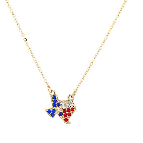 Accesorios Lux Pave cristal Texas orgullo Lone Star rojo blanco azul Austin...