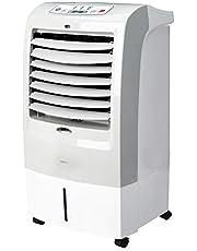 Amazon Basics - Enfriador de aire portátil oscilante 3 en 1 (ventilador, humidificador y purificador) con 3 velocidades, temporizador y control remoto, 60W