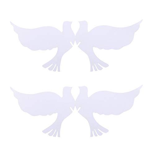 STOBOK 50 Stücke Taube Tischkarten Namenskarten Platzkarten für Hochzeit Tischdeko Baby Shower Taufe Geburtstag Party Wandtattoo Weinglas Glasanhänger Deko (Weiß)