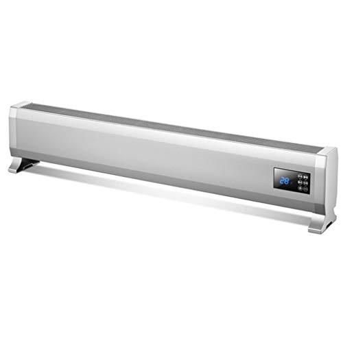 Radiador Eléctrico Calefactor eléctrico Rodapié eléctrica de convección Calentador con Patas Dormitorio/Cocina...