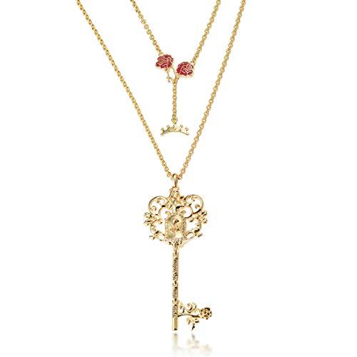 Goebel Couture Kingdom Die Schöne und Das Biest Halskette Schlüssel, Hals Kette, Anhänger, Schmuck, Gold, 12100541