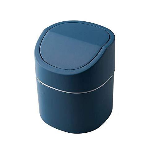 hsy Fice pequeño Bote de Basura,Tapa abatible Mini Cubo de Basura Cubo de Basura Mini Organizador de Escritorio Cocina y baño extraíbles Decoración casera Moderna Creativa Pequeño Cubo de Basura