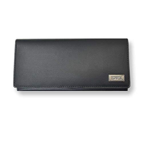 【全3色】 EDWIN エドウィン リアルレザーロングウォレット 二つ折り 長財布 (ブラック)