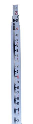 CST/berger 06-925 MeasureMark 25-Foot Fiberglass Grade Rod in Feet, Tenths and Hundredths