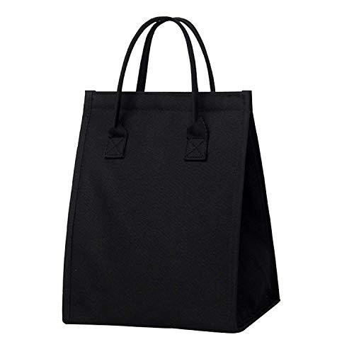 Moosoo Insulated Lunch Bag Thermal Lunch Tote Reusable Lunch Organizer Unisex Cooler Bag Handbag For Men Women Teens Kids (Black)