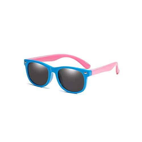 Gafas Deportivas, Pesca Gafas De Golf, Flexible Polarized Kids Sunglasses Child Black Sun Glasses For Baby Girls Boy Sunglasses Eyeglasses 1.5-11 Years Kids Glasses Navy Blue Pink