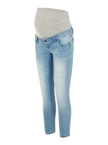MAMALICIOUS Mama Licious Female Umstandsjeans Cropped Slim Fit 2732Light Blue Denim