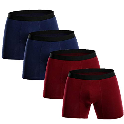 TIGERROSA Zwemshort voor heren, 4 stuks, lange boxershorts van katoen, boxershorts voor heren, boxershorts en cuecas, onderbroek, heren, stijl H