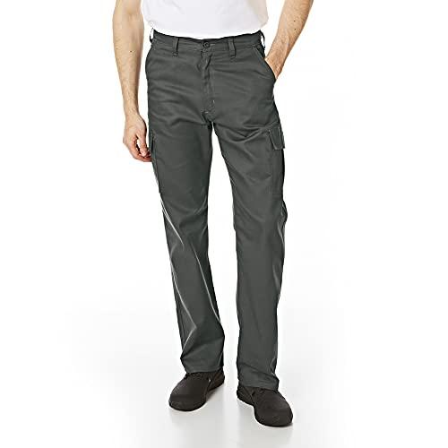 Lee Cooper Męskie klasyczne spodnie robocze bojówki spodnie szary 32 W/33 L (długość)