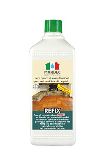 Marbec - REFIX Matt 1LT   Cera Opaca di Manutenzione per Pavimenti in Cotto e Pietra