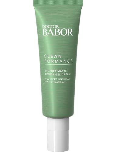 BABOR DOCTOR CLEANFORMANCE Oil-Free Matt Effect Cream, mattierende Gel-Creme, feuchtigkeitsspendend, für Mischhaut, ölige & unreine Haut, 50 ml