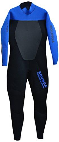 Kounga Pro 4.3 Traje para Surf y Buceo, Hombre, Negro/Azul, L
