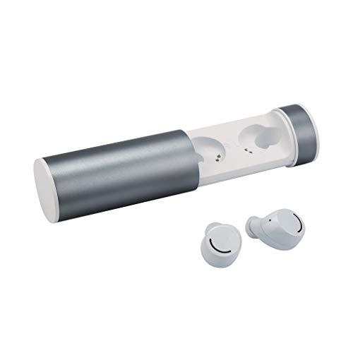 Yowablo Bluetooth Kopfhörer, Bluetooth Ohrhörer in Ear Bluetooth 5.0 Kopfhörer Stereo-Minikopfhörer Sport Kabellose Bluetooth Headset(Weiß)