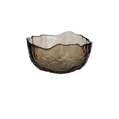 CJH Salad Bowl Creative Onregelmatige fruitschaal Vegetable Bowl Dessert Bowl Glas (Size : S)