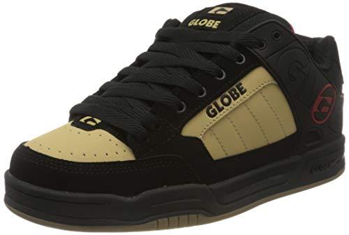 GLOBE Tilt, Zapatillas de Skateboard para Hombre, Negro (Black/Khaki/Red 20450), 37.5 EU