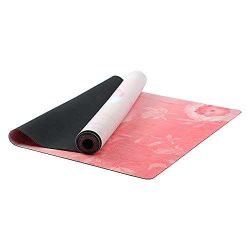 GWGW Mat Yoga Mat de Goma Afloy Fitness Fitness Fitness Mat de la Alfombrilla de Yoga(Polvo Negro de Dos Colores 2)