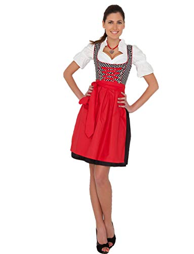 Yummy Bee - Dirndl Damen Midi - Trachtenkleid Oktoberfest Outfit - Fasching Kostüm (44-46)
