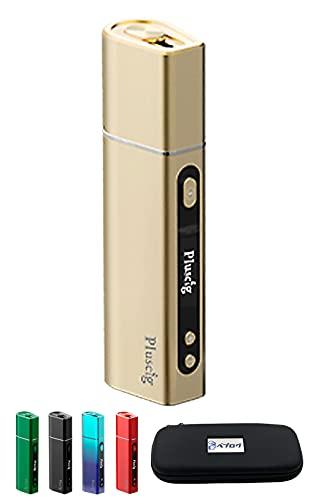 Pluscig S9 加熱式 互換機 スターターキット ポーチ付き プラスシグ エスナイン (ゴールド)