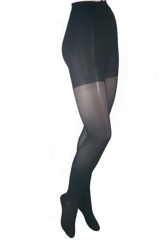 ITA-MED Sheer Pantyhose, Compression (20-22 mmHg) Black, Tall