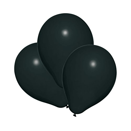 Susy Card 40011325 - Luftballons, 25er Packung, schwarz