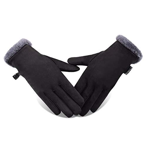 Opard Touchscreen Handschuhe Damen Winterhandschuhe Fahrradschuhe Frauen Handschuhe Winter Warm (L)