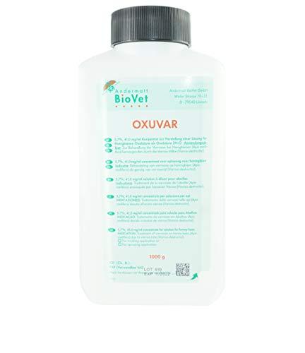 APIFORMES OXUVAR 5.7% - 1000 g - Oxalsäure gegen Varroa Behandlung | Varroamilbe | Sommer und/oder als Winterbehandlung | 3,0% Oxalsäure-Dihydrat zum Besprühen von Schwärmen, Ablegern |