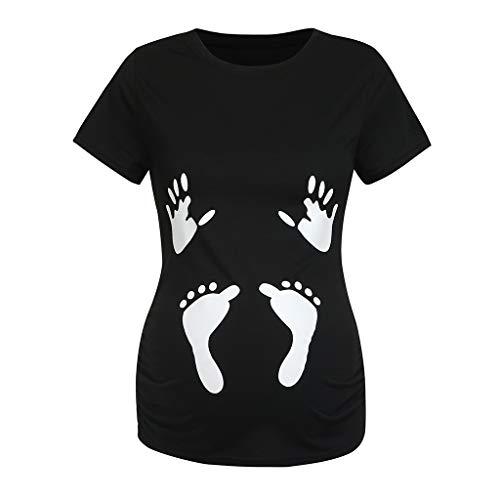 Allence Witzige lustige Umstandsmode T Shirt by Sweet Little Baby Loading Babyfüße - Coole Schwangerschaftsmode mit Aufdruck Stilltop Schwangerschaft Mama Kleidung