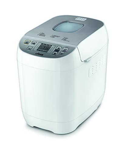 Ufesa BM6000 MYBAKERY, panificadora, 3 tamaños de pan (500 g/750 g/1000 g), 14 programas, grado de tostado ajustable en 3 niveles, función de mantenimiento del calor, temporizador para pan fresco