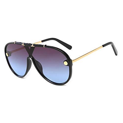 NJJX Gafas De Sol De Gran Tamaño, Gafas De Sol De Conducción Vintage Para Mujeres Y Hombres, Gafas De Sol Con Montura Grande Y Parte Superior Plana, Gafas Retro Siameses 7