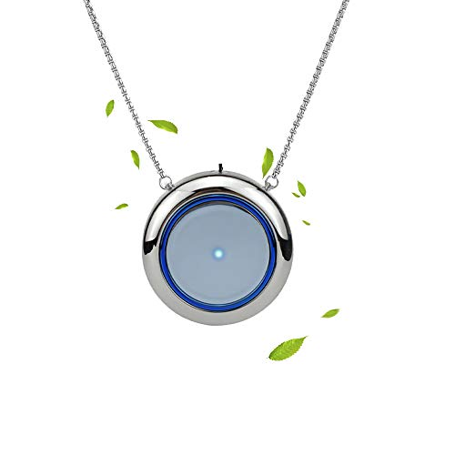 Great Features Of Odetina Portable Air Purifier necklace, USB Recharge Wearable air Purifier Necklace For Eliminates Smoke Smell, Odors, Dust, Polle(Silver)