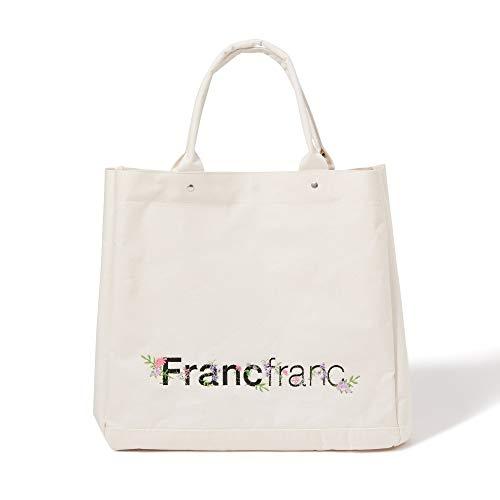 Francfranc フランフラン ロゴ トートバッグ フラワー刺繍 L トートバッグ バッグ トートバッグレディース バッグレディース a4 レディースバッグ バック トートバック
