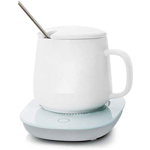 LPCMLS Temperature Control Smart Mug White, Heated Coffee Mug High Temperature Heat Dissipation, Three-Speed Adjustment, White