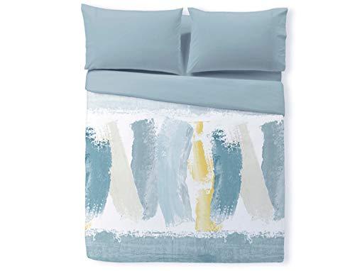 Reig Marti Funda nórdica Estampada Tres Piezas Plymouth Cama de 105 Color Azul